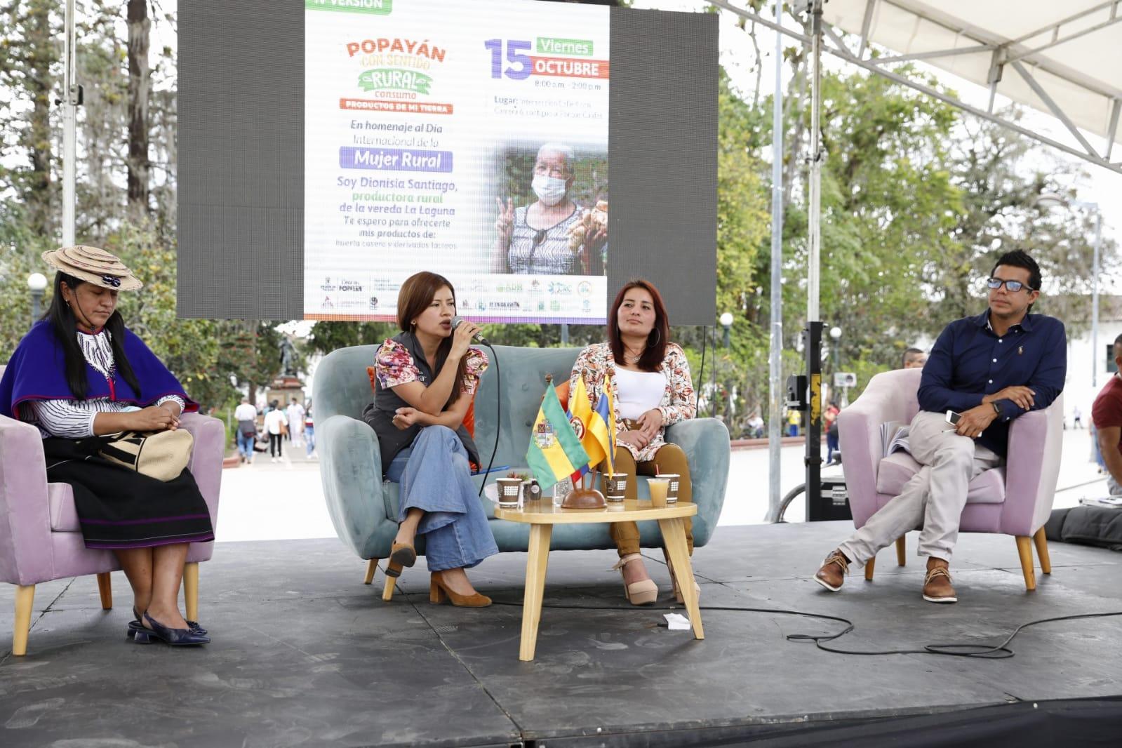 Alcaldía de Popayán exaltó a la mujer rural en su día internacional